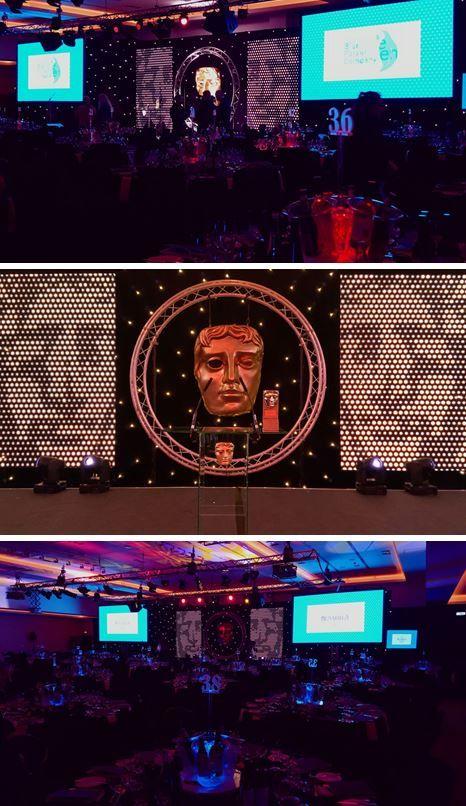 Bafta Scotland Awards. LED number ice buckets. Events