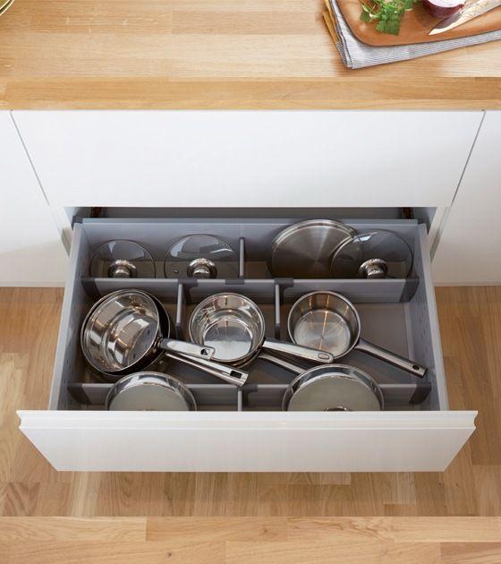 Rangement Casserolier Cuisine: Kit Organiseur Avec Parois Pour Casserolier En 2019