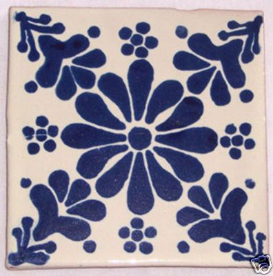 12  Mexican Hand Painted Talavera Tiles 4 X 4 by Casadaya on Etsy, $17.50