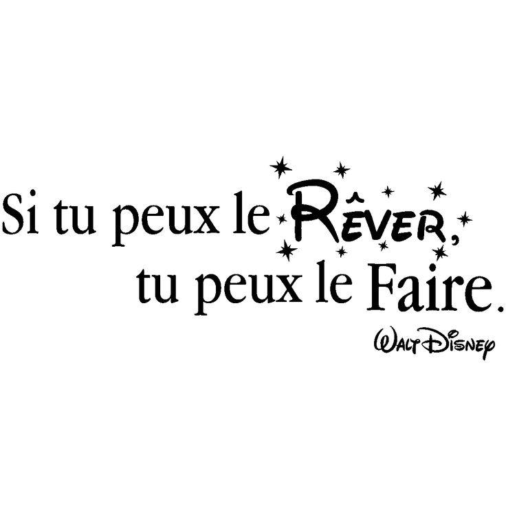 Stickers muraux citations - Sticker citation Si tu peux le rêver - Walt Disney - ambiance-sticker.com