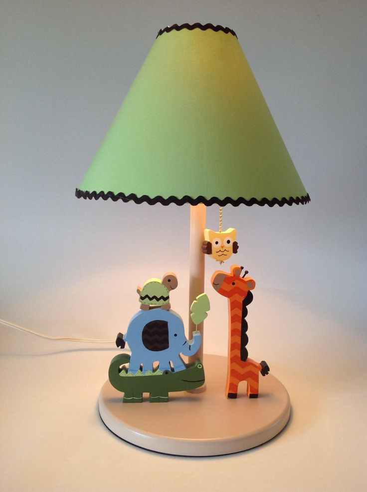Country madera painting lamp