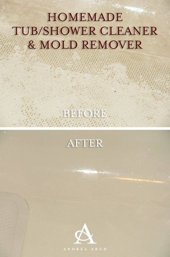 Homemade Tub Shower Cleaner Mold Remover Distilled White Vinegar And Baking Soda Diy
