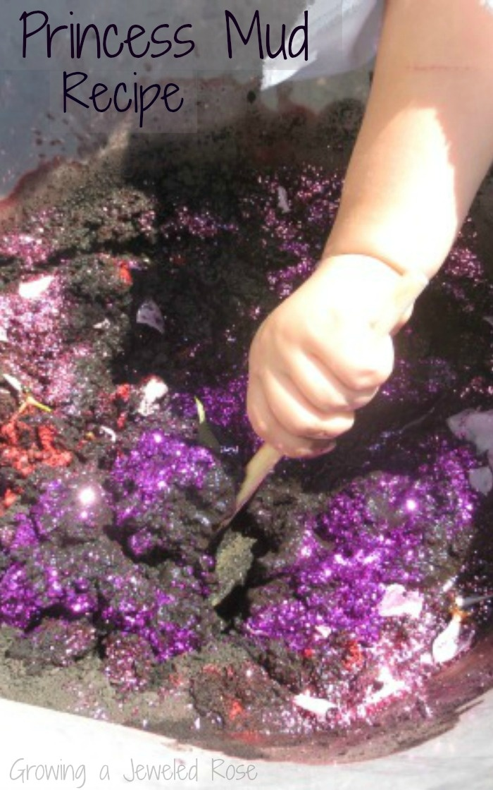 Princess Mud Recipe ~ Your kids love these fun recipes all about making mud exciting. Nothing better than a sparkly mud pie!