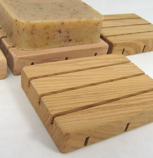 Cedar wood soap dishes to go with home made soaps I intend to make