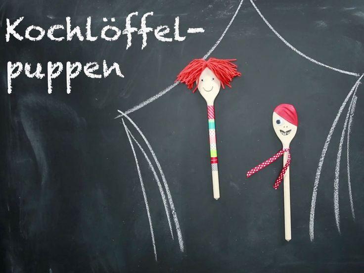Kochlöffel-Puppen basteln - so geht's