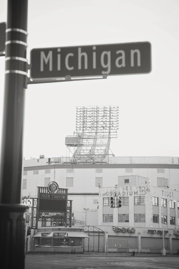 Detroit Tiger Stadium Photo by Debbie Sipes~ The stadium is no longer at Michigan and Trumbull.