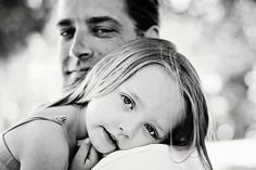 beautiful father daughter portrait. It's time for family photos