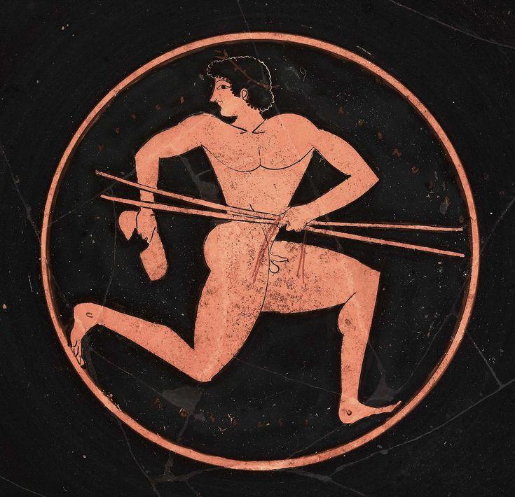 Drinking cup (kylix) about 510–500 B.C.  the Poseidon Painter  Greek Athletes | Museum of Fine Arts, Boston