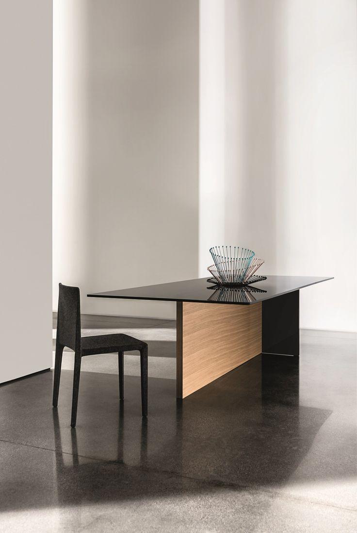 Rectangular wood and glass #table REGOLO | @sovetitalia