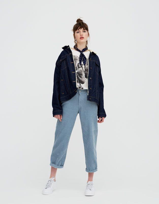1cb723633d42 Pantalon mom fit velours côtelé - pull&bear | Wishlist 2.0 en 2018 ...