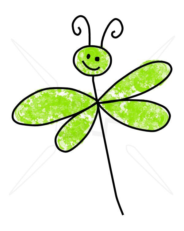 cute dragonfly clipart