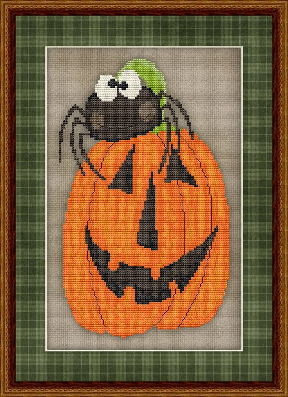 Counted Cross Stitch Pattern Silly Spider No. 2 Whimsical Halloween Design INSTANT DOWNLOAD PDF - StitchX