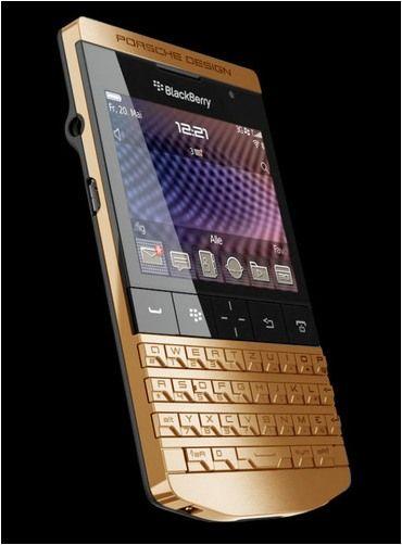BlackBerry Porsche Design P'9981 en oro de 24 kilates y con un precio de aprox. 6.000 euros