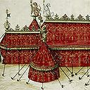 n June 1520, Henry VIII and King Francis I of France met near Calais at the 'Field of Cloth of Gold' in an attempt to strengthen the bond between the two countries. Each king tried to outshine the other, with dazzling tents and clothes, grand feasts, music, jousting, and games. The tents and the costumes included such great quantities of 'cloth of gold' (an expensive fabric woven with silk and gold threads
