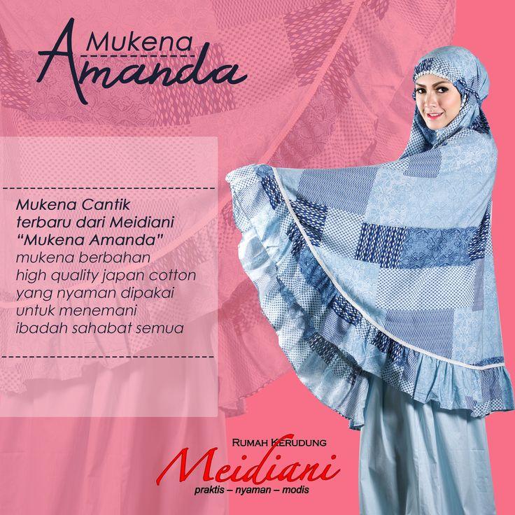 Mukena Amanda Mukena cantik dari Meidiani berbahan high quality Japan Cotton yang nyaman dipakai untuk menemani ibadah sahabat semua. Dengan motif cantik yang menambah keindahan Mukena Amanda ini. Available Color : Biru, Salem  Price: 450.000
