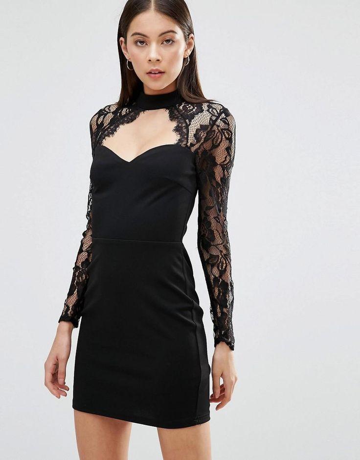 Parisian Dress With Lace Top. Dress LaceCutout DressDresses ...