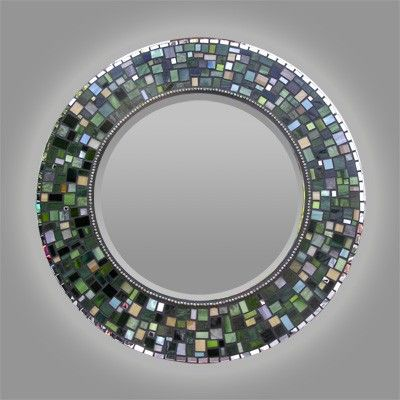 Mosaic Stained Glass Mirror by OlveraDesignMosaic on Etsy