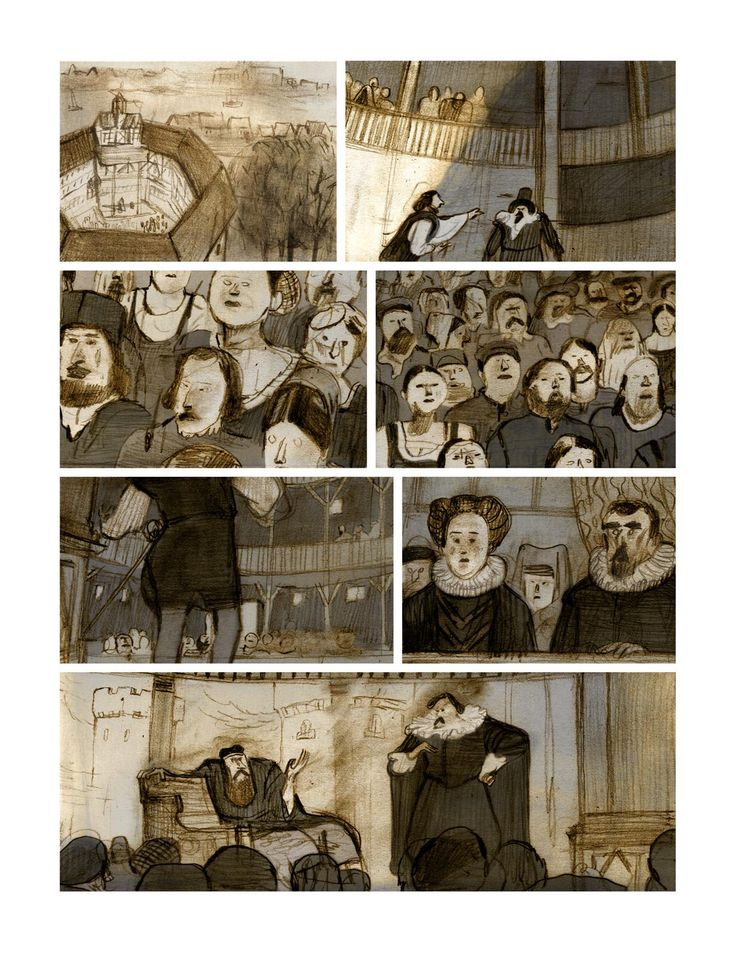 Shakespeare, art by Jorge González
