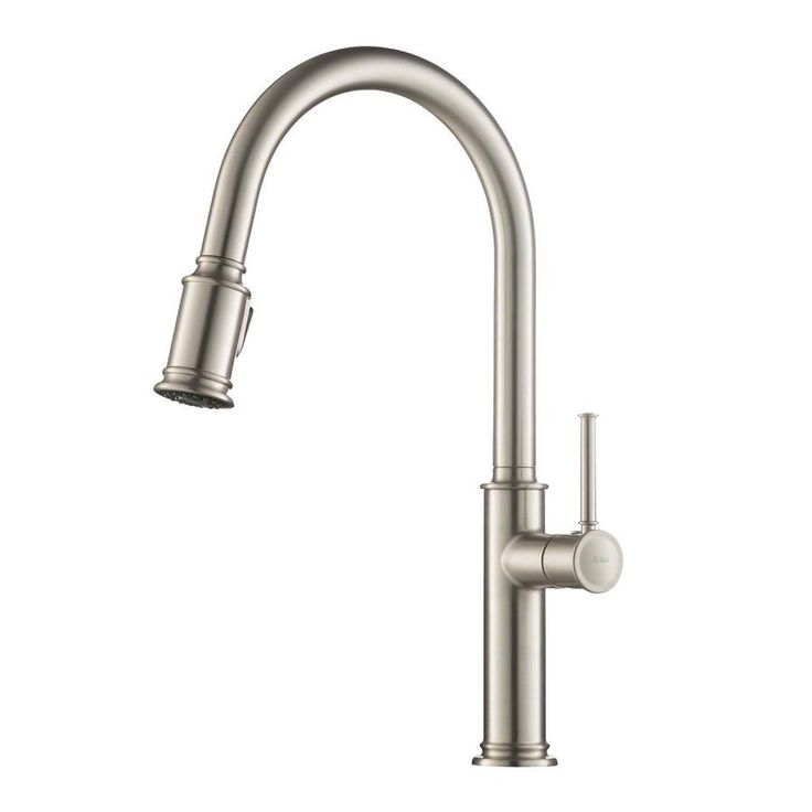 Kraus Sellette Stainless Steel 1-Handle Deck Mount Pull-down Kitchen Faucet