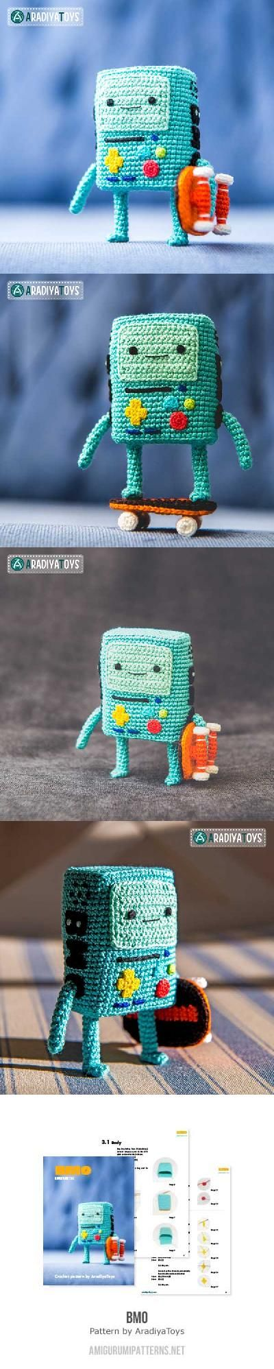 BMO (Adventure time) amigurumi pattern by AradiyaToys