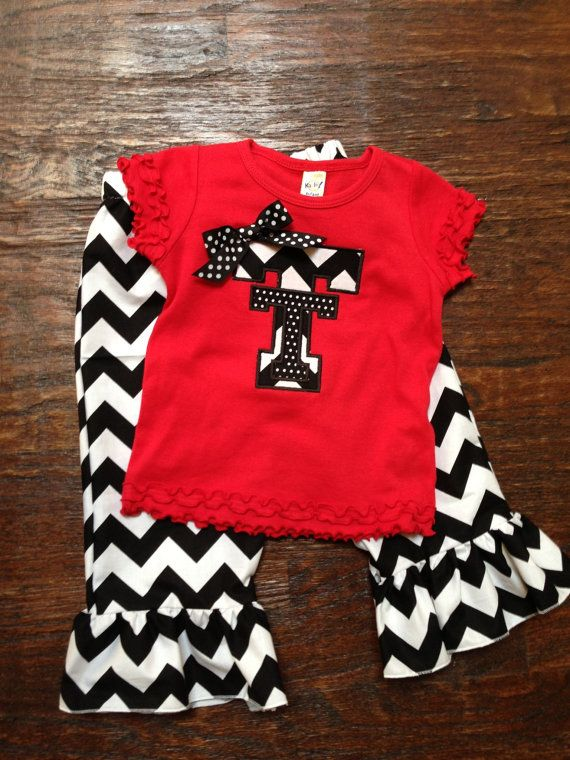 Texas Tech Team Shirt and Chevron Pants by thehappyhoneysuckle, $48.00
