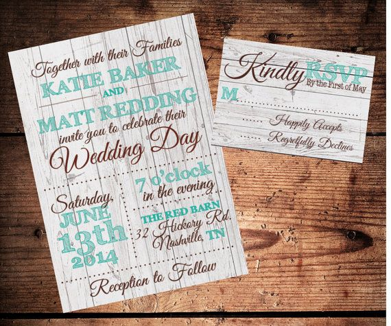 Rustic Light Wood Wedding Invitation and by SimplyExtravagantInv, $30.00