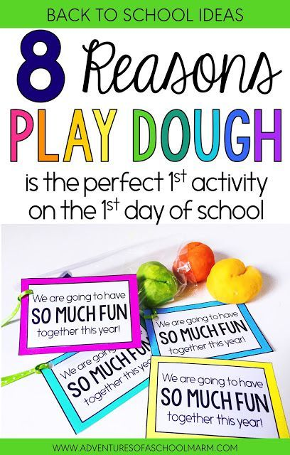 Play dough is the perfect activity for the first day back to school. It sets the tone and communicates that our classroom values hands-on learning, collaboration, creativity, and divergent thinking! Post includes a free download for bag tags with a positive note to students!