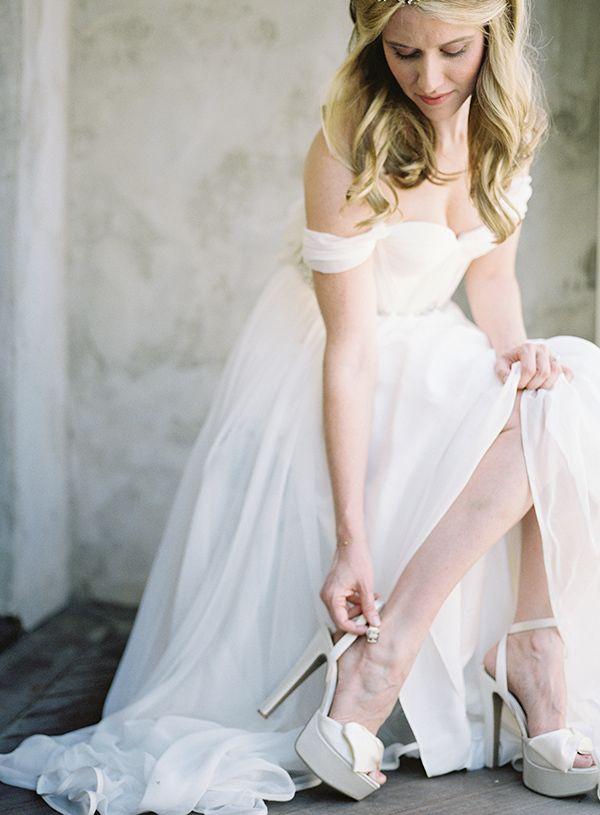 12 best Off-the-Shoulder Wedding Dress images on Pinterest | Wedding ...