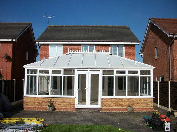 Used Pvcu Large White Upvc Conservatory 7515 mm x 4700 mm