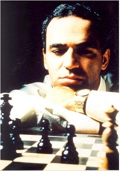 Garry  Kasparov (Russian: Га́рри  Каспа́ров, 13.04.63) is a Russian (formerly Soviet) chess grandmaster, a former World Chess Champion, writer and political activist, considered by many to be the greatest chess player of all time.