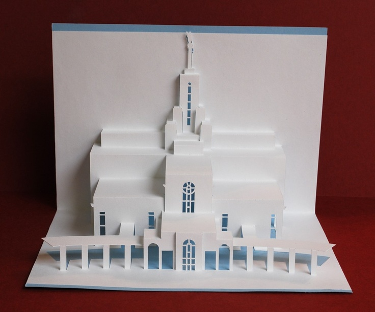 how to make a temple with paper