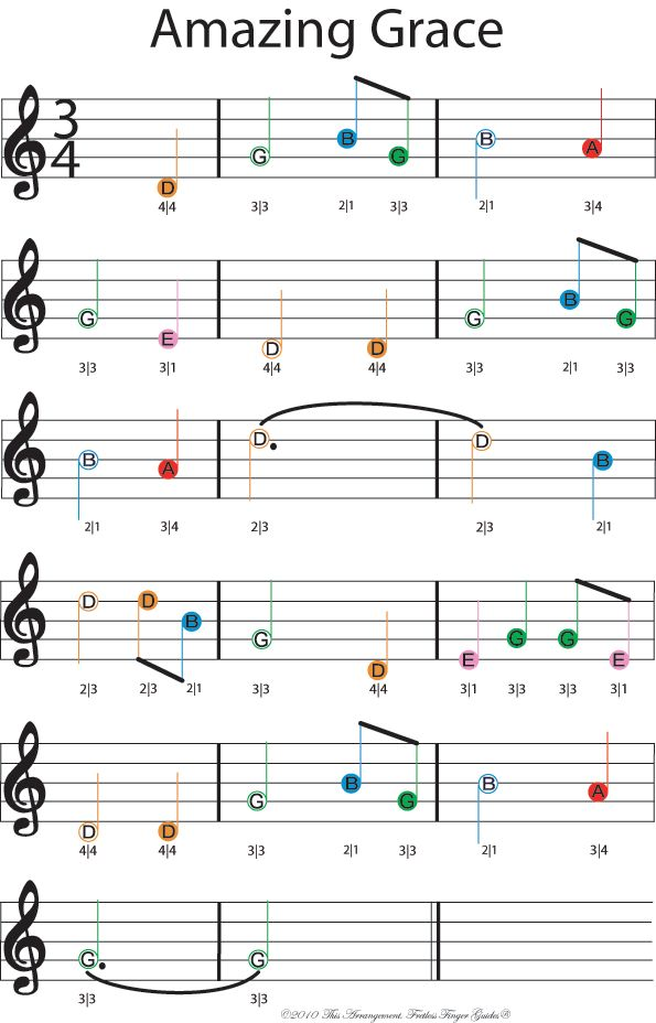 Beginner Violin sheet music - Twinkle  Twinkle little star, amazing grace, The rising sun, and more