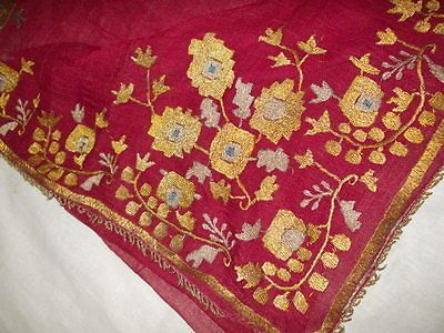 antique late 18 great ottoman cevre gold and silver embroidery