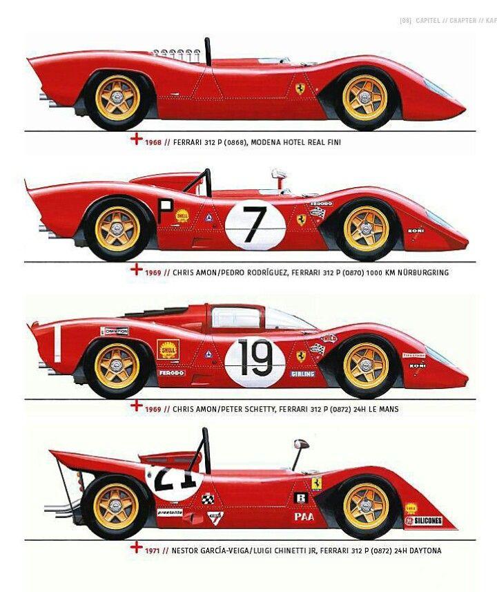Ferrari 312 P Evolution 1968 71 Auto Da Corsa Auto Ferrari