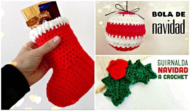 3 adornos de Navidad tejidos a crochet