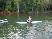 Sit down paddleboarding