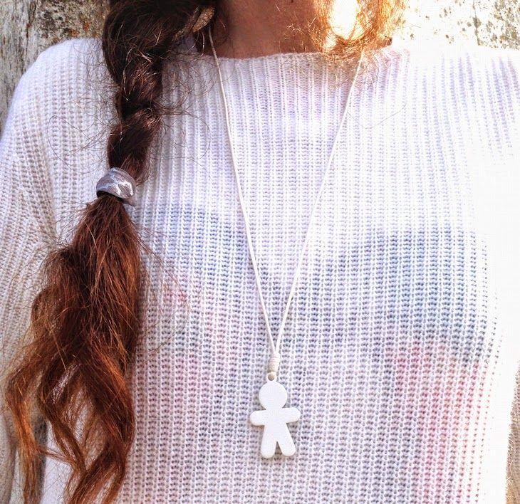 #white #trend #knit #necklace #fashion #bijoux