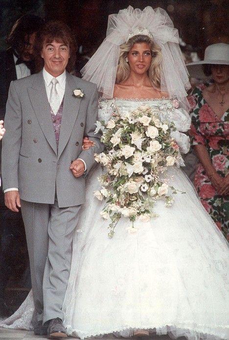Mandy Smith with Bill Wyman on their wedding day in 1982.