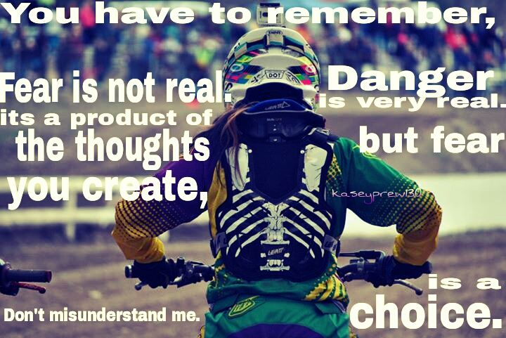 """anothercrazyracer: """"Photo of me I made with my favorite quote """""""