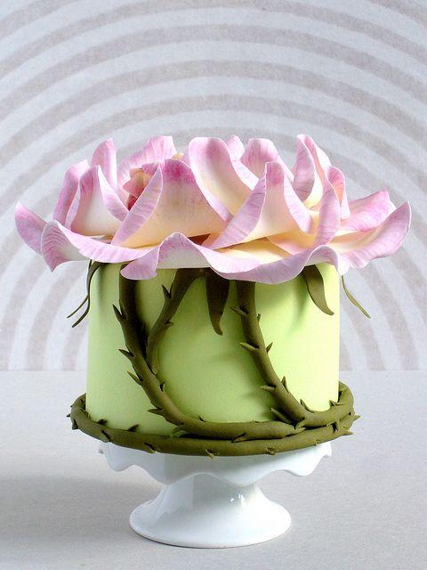 sleeping rose fairy mini cake