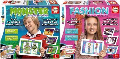 Fashion Creator y Monster Creator: de diseños sobre papel a personajes animados