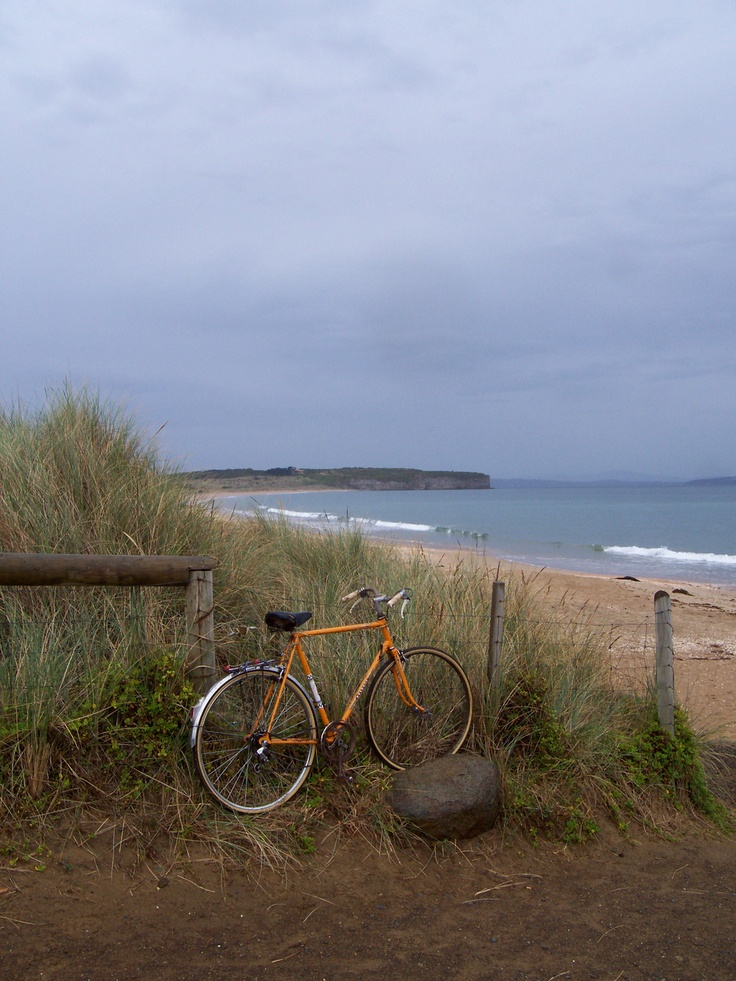 Random bicycle parked at a random beach - Tasmania