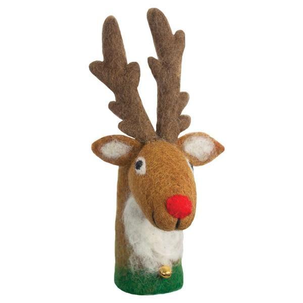 Reindeer Bottle Topper - Wild Woolies (H)