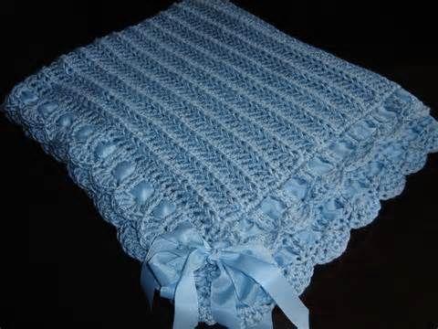 Patrones para mantas tejidas crochet bebe kamistad - Patrones de mantas a crochet ...