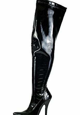Sexyca Ladies Patent Black Thigh High Heel Stiletto Boots Mens Size UK10 EU44 Ladies thigh high patent black boots available in Mens sizes UK9 to UK12. <br /> These are very sexy boots with a full length zip on the inside. <br /> Str (Barcode EAN = 5055584308627) http://www.comparestoreprices.co.uk/large-screen-tvs/sexyca-ladies-patent-black-thigh-high-heel-stiletto-boots-mens-size-uk10-eu44.asp