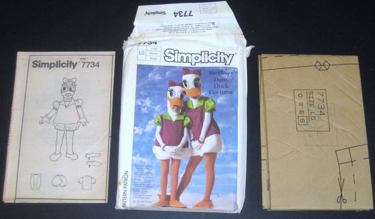 Vintage Simplicity 7734 Disney Daisy Duck Costume Adult Large Halloween Cosplay | Collectibles, Disneyana, Contemporary (1968-Now) | eBay!
