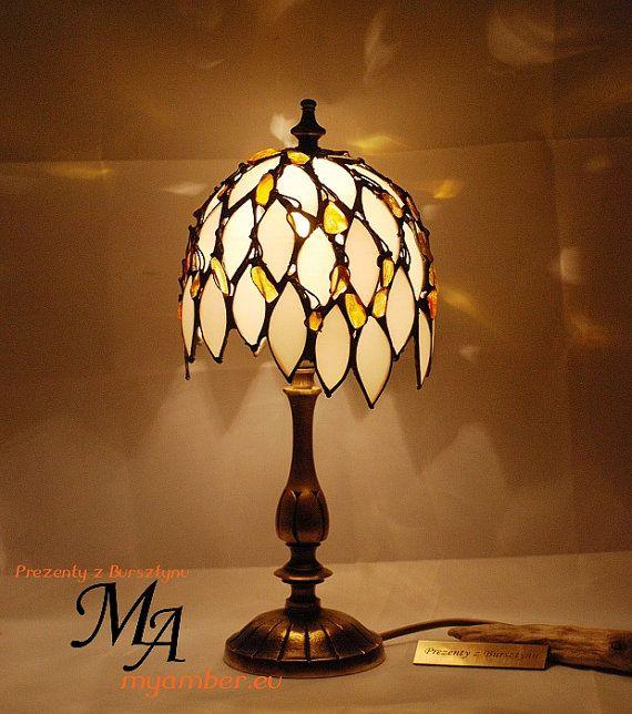 Tiffany estilo lámpara 12116 con ámbar báltico por myamberEU