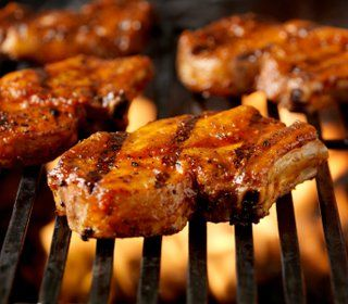 Use your grill's smoker box or a stand-alone outdoor smoker to make baked chicken barbeque, BBQ pork loin, barbecued country spareribs, and more.
