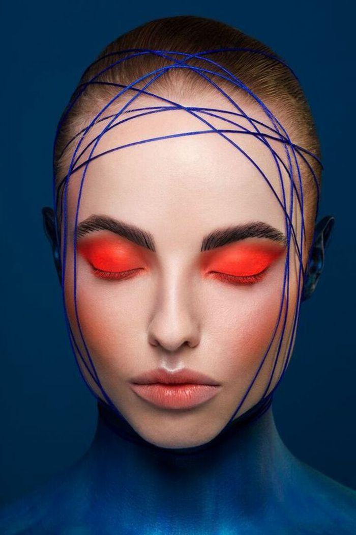 comment se maquiller les yeux avec du rouge flashy nuance orange lèvres nude av…