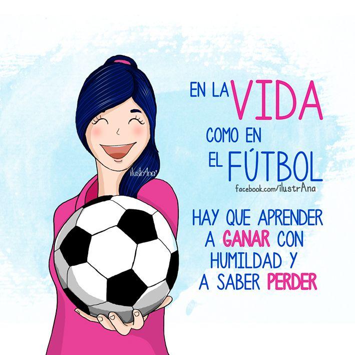 #vida #ganar #humildad #futbol #lección #saberPerder #rosa #pink #life #ilustrana